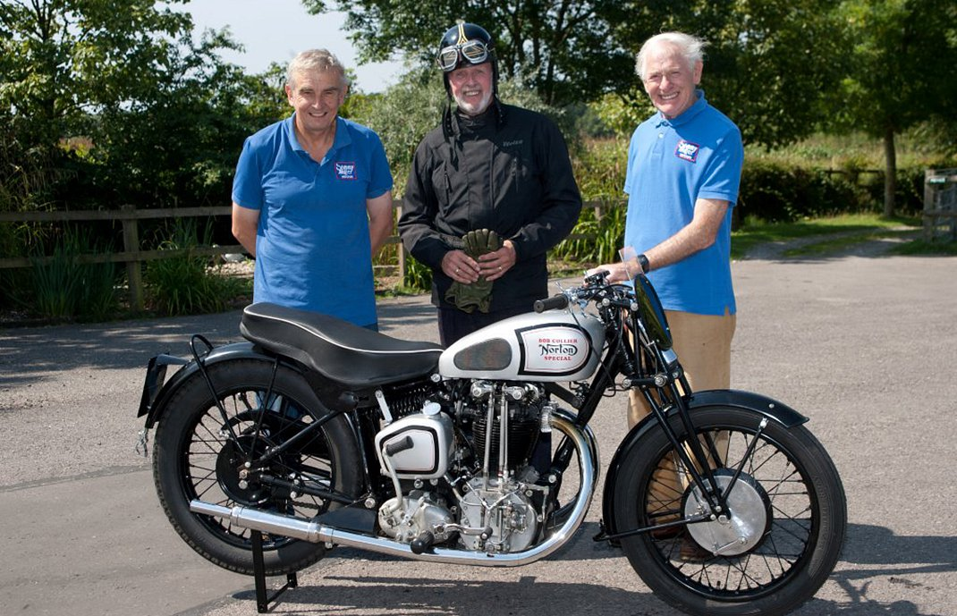 Bob Collier's Norton Special with Sammy Miller MBE, Bob Stanley and Roy Poynting, Journalist